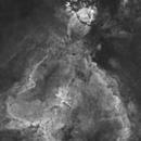IC1805 Starless Heart and Fish nebulas (2 panels mosaic),                                Kesphin