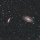Bode's and Cigar Galaxies (M81&M82) in LRGB,                                Jose Carballada