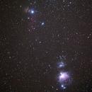 Orion nebula , Running man nebula , Flame nebula,                                Krittapas
