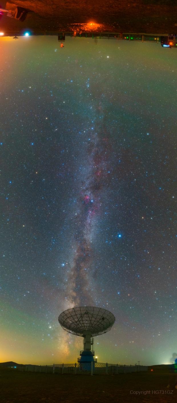 Milky way in Mingantu Observatory,                                我可是汞