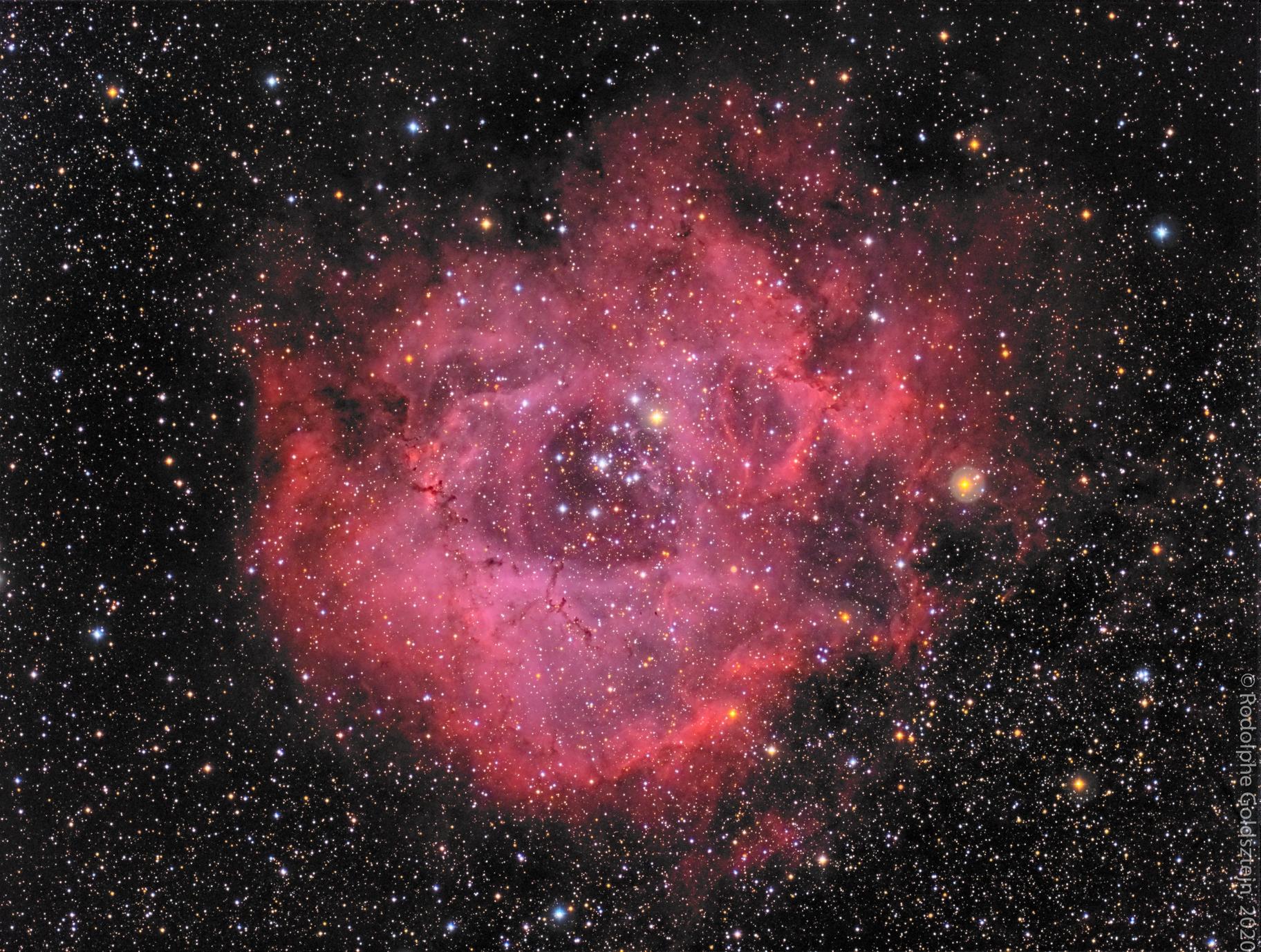 Rosette Nebula - NGC 2238 - LRGB,                                Rodolphe Goldsztejn