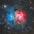 Trifid Nebula (Messier 20) with ASI174MM,                                Delberson