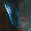 Pencil Nebula in Hydrogen and Oxygen Starless, Data from gturgeon,                                Jim Matzger