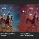 Pillars of Creation :  Hubble vs Craney,                                Craney