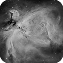 Orion Nebubla (M42) in Ha,                                Chuck's Astrophotography