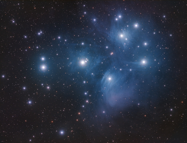 The Pleiades Star Cluster,                                Hunter Harling
