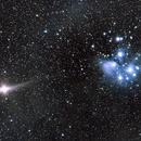 Pleiades and Mars,                                Mike Coates