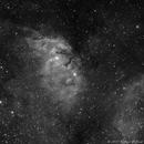 Sh2-101 - Tulip Nebula in Ha,                                Richard Bratt