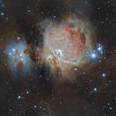 The great Orion Nebula (M42) & running man nebula (NGC1977),                                lukfer