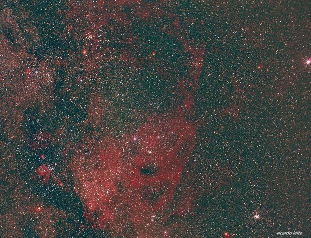 Puppis A Nebula, Vela S.N.R. and Canopus (50mm lens),                                ricardo leite