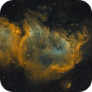 IC1848 The Soul Nebula -- 2021 and 2019 Edition in Hubble Palette Narrowband,                                Eshan Toorabally