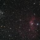 NGC 7635 - Bubble nebula in Cassiopeia,                                Nurinniska