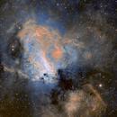 Messier 17, narrow band,                                JNieto