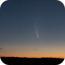 Comet C/2020 F3 NEOWISE before Sunrise,                                elbee