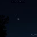 Jupiter with 3 moons and Saturn 12/11/2020,                                Van H. McComas