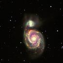 M51 in L-H-S-NIR,                                Andreas Dietz
