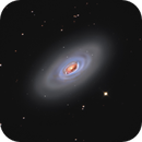 La galaxie de L'Œil noir - Messier 64.,                                Julien.Looten