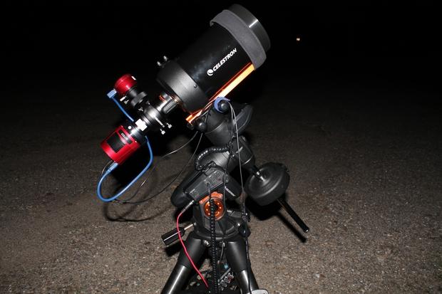 Celestron C5 imaging setup,                                Steven Bellavia