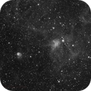 The Spider and the Fly, IC 417 and NGC 1931 in Ha,                                Madratter