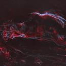 Western Veil Nebula in HOO - Starless,                                nerdybeardo