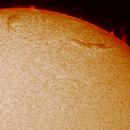 Solar prominence,                                Hartmuth Kintzel