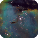 Nébuleuse du Pacman (NGC281) en LSHO,                                Denis Bergeron