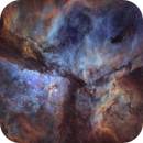 A high-res diptych of Carina in Hubble colors.,                                Diego Gravinese