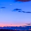 Moon, Venus and Mercury over Seattle.,                                nwsorin