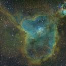 IC1805 Heart Nebula SHO Wide Field Image,                                Ben Koltenbah