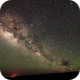 Milky Way and air glow,                                AstroGG