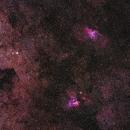 Swan and Eagle Nebulae,                                Ahmed Waddah
