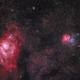 Trifid Nebula (M20) and Lagoon Nebula (M8),                                Chuck's Astrophot...