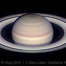 Saturn 1 Aug 2019 - 30 min animation - Nth up,                                Seb Lukas