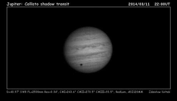 Callisto shadow transit,                                Predator