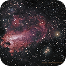 Messier M17 and as NGC 6618 The Omega Nebula, also known as the Swan Nebula, Checkmark Nebula, Lobster Nebula, and the Horseshoe,                                Al Bates