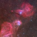Gabriela Mistral nebula (NGC 3324) and Little Jewelbox (NGC 3293),                                Trần Hạ