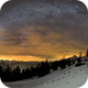 A rare view: The complete winter milky way bow,                                Markus A. R. Langlotz