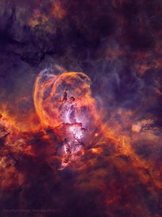 Taking Liberties : NGC 3576 (Starless),                                Andy 01