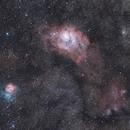 nebulosa trifida e laguna,                                Mattia_C
