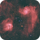 """Flaming Star and the """"Tadpole"""" Nebulas,                                Christopher Ober"""