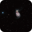 Messier 51 with Hydrogen alpha data, crop,                                S. Stirling
