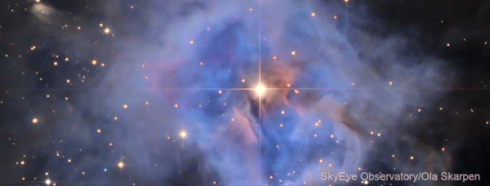 NGC 7023, heart of Iris Nebula,                                Ola Skarpen SkyEyE