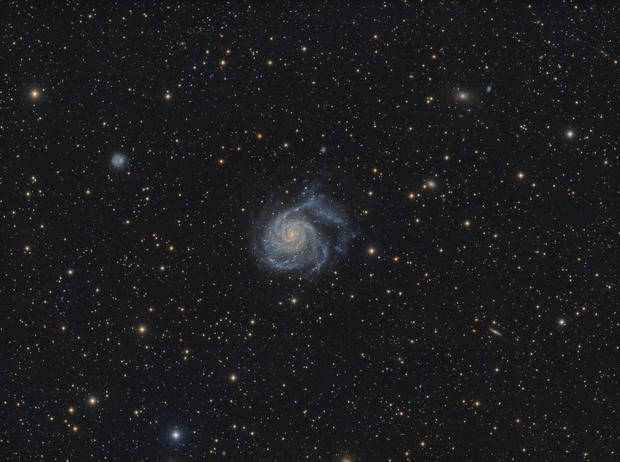 Messier 101 - The Pinwheel Galaxy - Deep Image,                                Arno Rottal