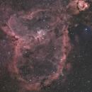 Heart Nebula (IC 1805) Ha + OSC RASA8,                                Brandon Tackett