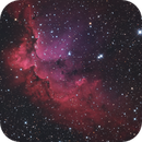 Wizard nebula in LRGBHAO3 combo, First light of my RC8,                                Robert Habolin