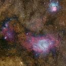 M20 & M8 - Trifid and Lagoon - Reprocess,                                Jon Rista