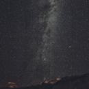 Milky Way around Cassiopeia under Bortle 2 - beginners trials,                                Uwe Deutermann