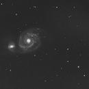 M51 Whirlpool Galaxy-B&W,                                Adel Kildeev