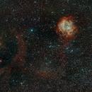 Wide field around Rosette nebula,                                Yannick Juillet
