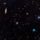 Surfboard Galaxy (M 108, NGC 3556)  and Owl Nebula (M 97, NGC 3587) in Ursa Major,                                Ricardo Pereira